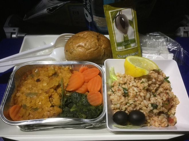 Aeroflot. Food specifically for Russians